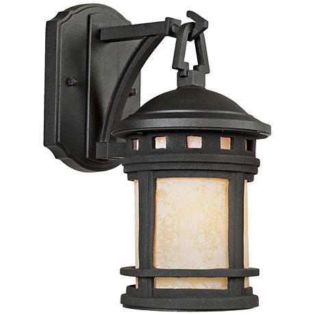 """Sedona 10 3/4"""" High Amber Glass Bronze Outdoor Wall Light"""