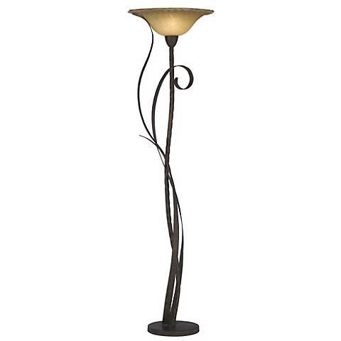 Kathy Ireland Vine Torchiere Floor Lamp