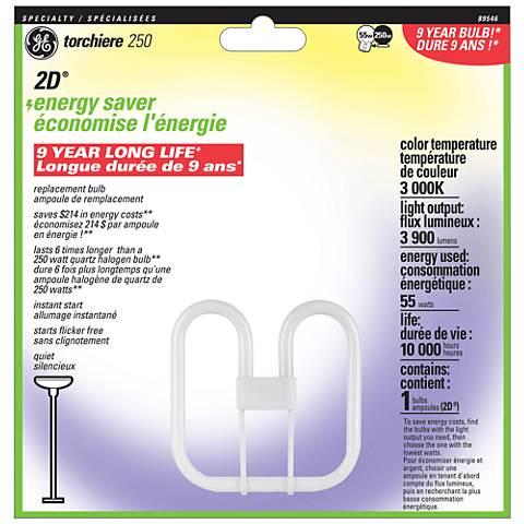 2D Energy Saving Torchiere 250 Fluorescent  Light Bulb