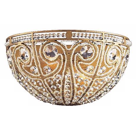 """Elizabethan Collection Antique Gold 13"""" Wide Pocket Sconce"""