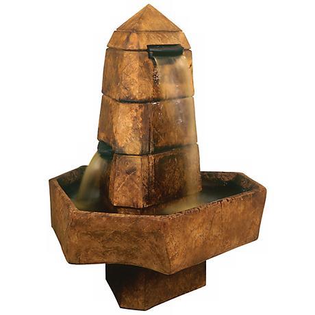 Henri Studio Abstract Obelisk Relic Lava Finish Fountain