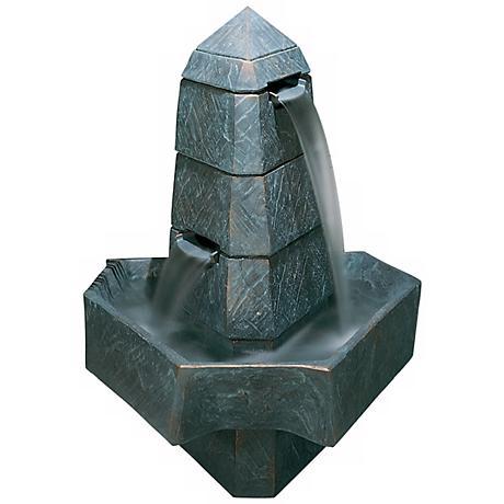 Henri Studio Abstract Obelisk Bronze Patina Finish Fountain