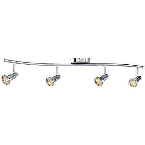 track lighting in one easy to install brushed steel 4 light fixture. Black Bedroom Furniture Sets. Home Design Ideas