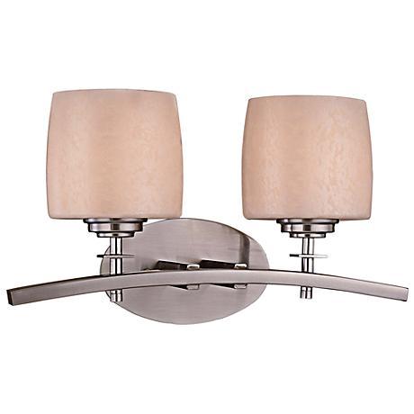 minka raiden 2 light brushed nickel bath light 05254 lamps plus. Black Bedroom Furniture Sets. Home Design Ideas