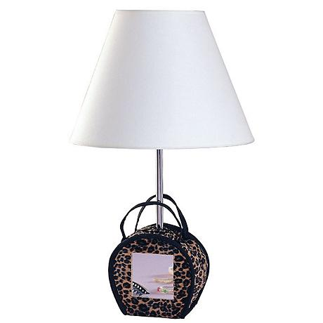 animal print purse with mirror table lamp 05356 lamps. Black Bedroom Furniture Sets. Home Design Ideas