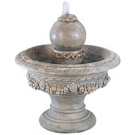 Henri Studio Trevia Greystone Roman Sphere Fountain