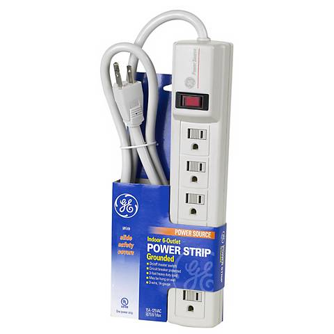 Indoor 6-Outlet Grounded Power Strip