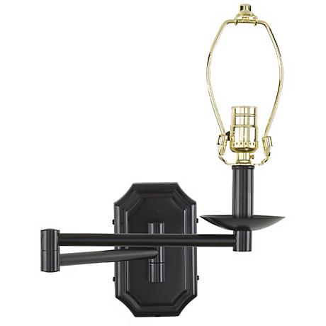 dark bronze plug in swing arm wall lamp base 06063. Black Bedroom Furniture Sets. Home Design Ideas