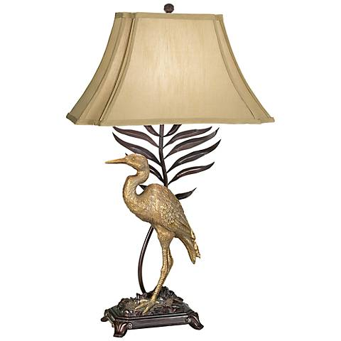 whispering palms table lamp 06136 lamps plus. Black Bedroom Furniture Sets. Home Design Ideas
