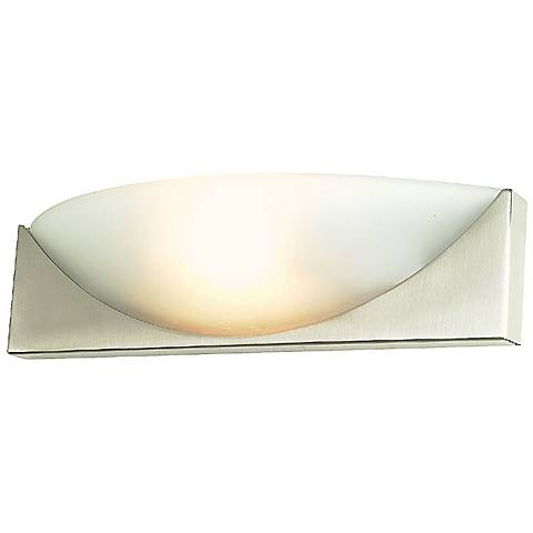 "Contemporary Swoosh 16"" Wide Wall Sconce"