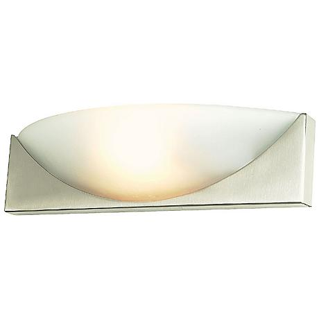 """Contemporary Swoosh 16"""" Wide Wall Sconce"""