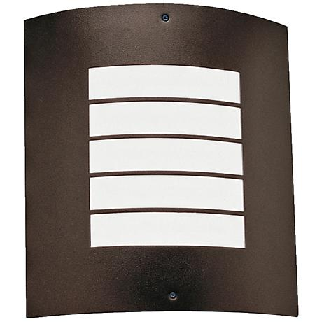 "Kichler Newport 10 1/4"" High Bronze Outdoor Wall Light"