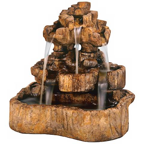 "Henri Studio 43"" High Medium Rock Falls Fountain"