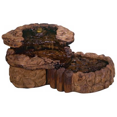 """Henri Studio 18"""" High Pebble Spill Garden Fountain"""