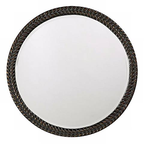 "Lisbon Antique Black 32"" Wide Wall Mirror"