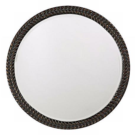 "Lisbon Antique Black 32"" Wide Wall Mirror"