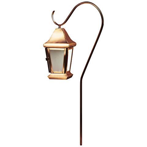 Dabmar Copper Hanging Lantern Path Light