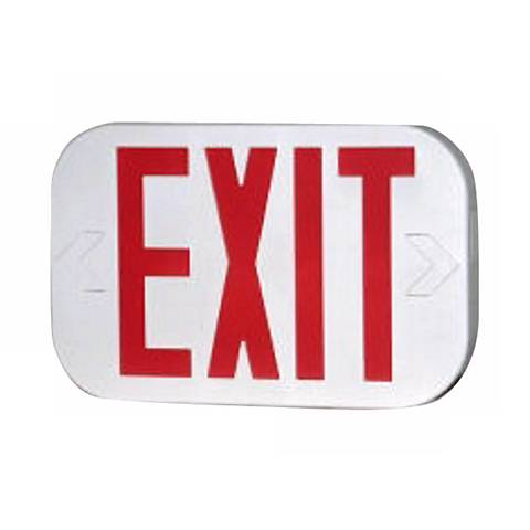 """White Finish 8"""" High 2"""" Wide Exit Sign"""