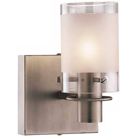 """George Kovacs Antique Nickel 7 1/4"""" High Wall Sconce"""