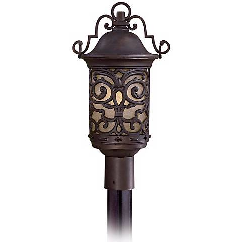 "Chelesa Road 20"" High Bronze Outdoor Post Mount Lantern"
