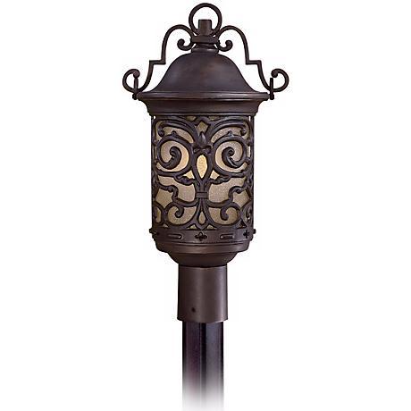 "Chelesa Road 20"" High Bronze Outdoor Post Mount Lantern"
