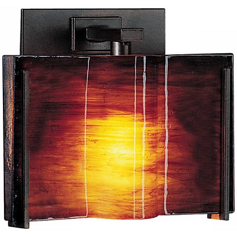 "Exos Wave Topaz Glass 6 1/2"" High Wall Sconce"