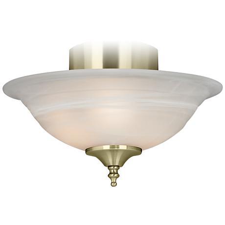 Polished Brass Pull Chain Ceiling Fan Light Kit