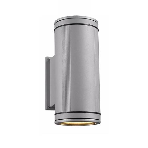 Meridian Up-Down Architectural Silver Outdoor Wall Light