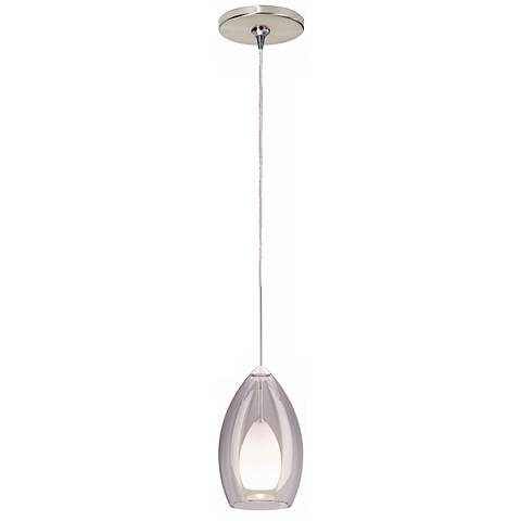 Fire Satin Nickel Smoke Glass Tech Lighting Mini Pendant