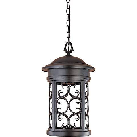 "Ellington 19"" High Oil-Rubbed Bronze Outdoor Hanging Light"