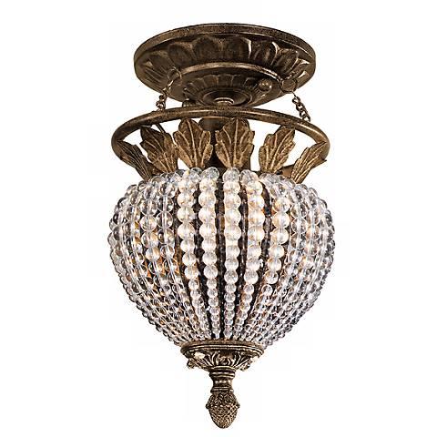 "Crystorama Roosevelt 7"" Wide Crystal Bead Ceiling Light"