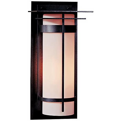 """Hubbardton Forge Banded 20 1/2"""" High Outdoor Wall Light"""