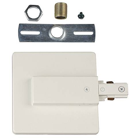 Juno Live End Connector with Cover in White