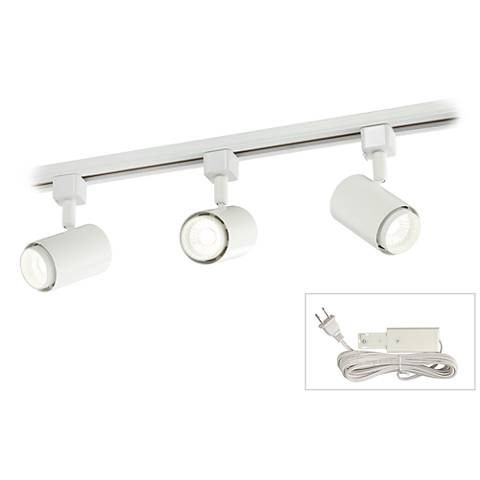 Led Cylinder White 3 Light Plug In Linear Track Kit