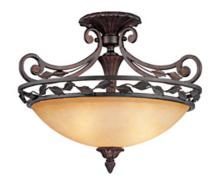 "Scavo Leaf and Vine Bronze 21"" Wide Ceiling Light Fixture"