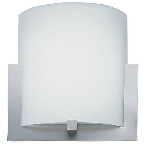 """Satin Nickel 12"""" Wide Contemporary Wall Sconce"""
