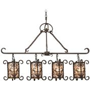 "Natural Mica Collection 42"" Wide Island Chandelier"