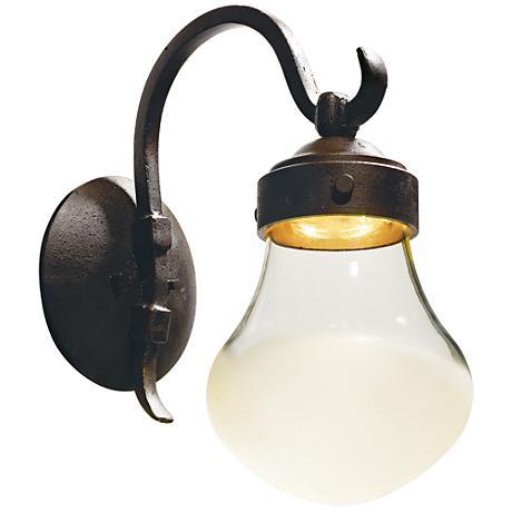 "Maxim Rustica 16 1/4""H Rustic Bronze LED Outdoor Wall Light"