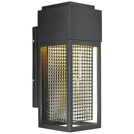 """Maxim Townhouse 12""""H stainless steel LED Outdoor Wall Light"""