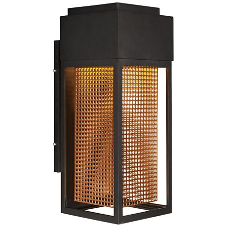 "Townhouse 16 1/2""H Galaxy Bronze LED Outdoor Wall Light"