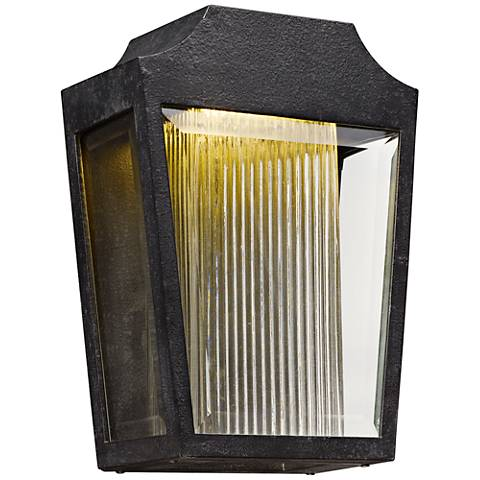 "Maxim Villa 12 1/4"" High Anthracite LED Outdoor Wall Light"