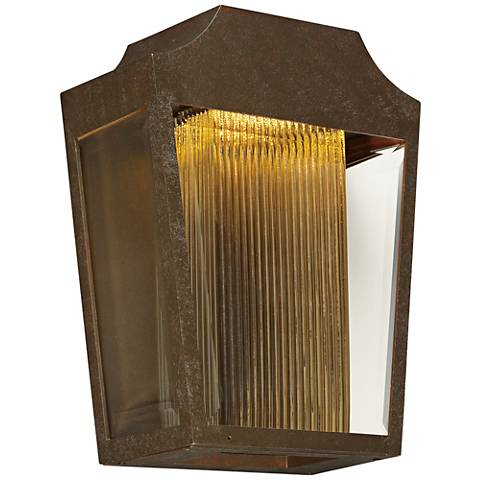 "Maxim Villa 12 1/4"" High Adobe LED Outdoor Wall Light"