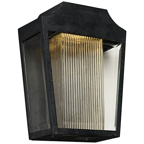 "Maxim Villa 14 1/4"" High Anthracite LED Outdoor Wall Light"