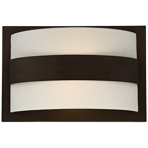 "Crystorama Grayson 10""H 2-Light Dark Bronze Wall Sconce"