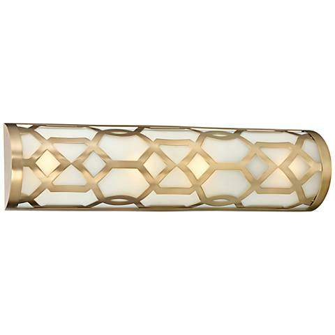 "Crystorama Jennings 4-Light 24""W Aged Brass Bath Light"