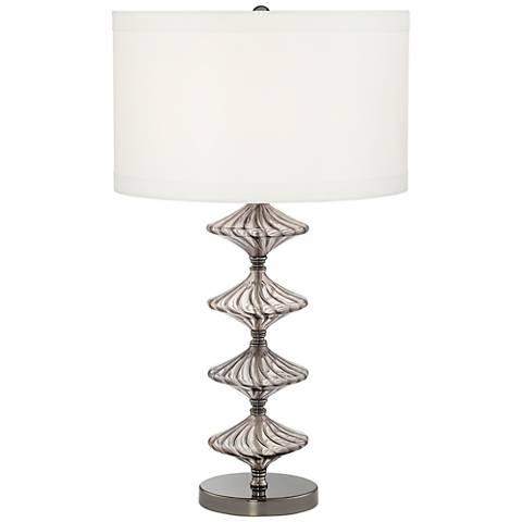 Possini Euro Nanci Smoked Glass Console Table Lamp