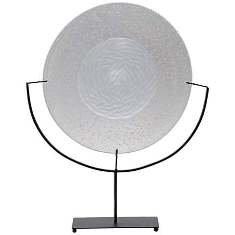 Viz Sutter Clear with Metallic Flakes Art Glass Charger