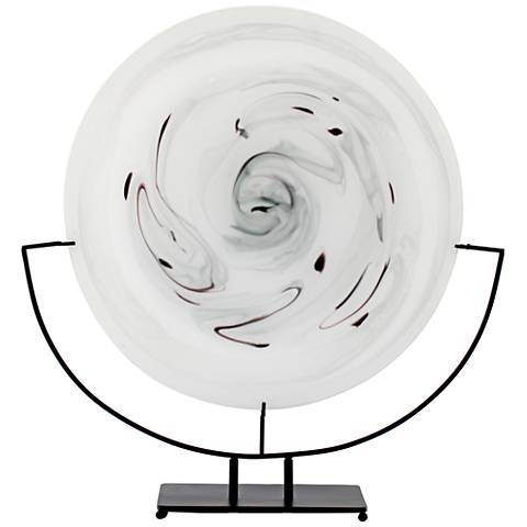 Viz Serenity Marbled Glass Art Glass Charger