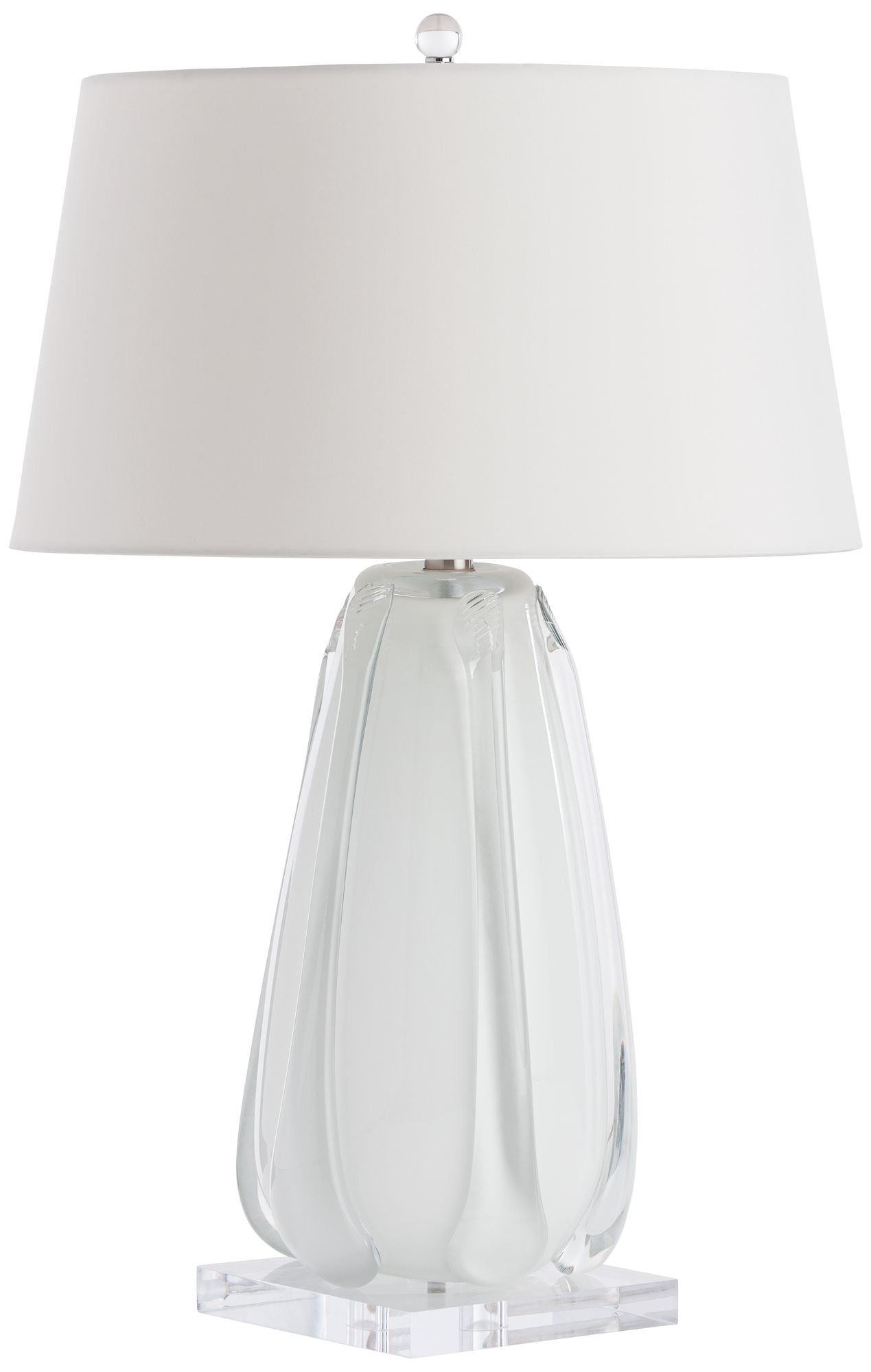 Arteriors Home Cleo White And Clear Glass Table Lamp