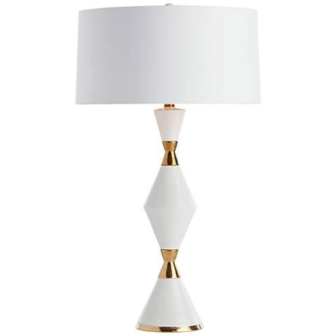 Arteriors Home Adair Gold White Cinch Waist Table Lamp